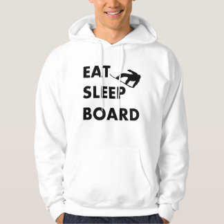 Eat Sleep Board Snowboarding Hoodie