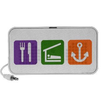 Eat Sleep Boating Portable Speakers