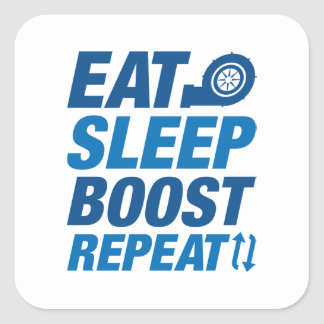 Eat Sleep Boost Repeat Square Sticker