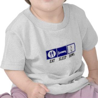Eat, Sleep, Bowl T-shirts