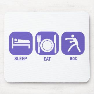 Eat Sleep Box Mouse Pad