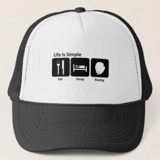 Eat Sleep Boxing Trucker Hat