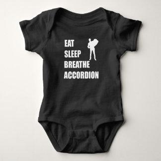 Eat Sleep Breathe Accordion Baby Bodysuit