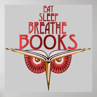 Eat Sleep Breathe Books Print
