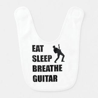 Eat Sleep Breathe Guitar Bib
