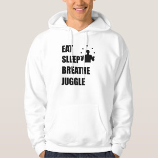 Eat Sleep Breathe Juggle Hoodie
