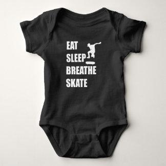 Eat Sleep Breathe Skate Baby Bodysuit