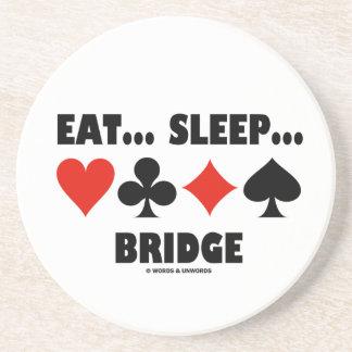 Eat... Sleep... Bridge (Bridge Humor Card Suits) Coaster