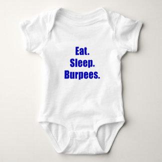 Eat Sleep Burpees Baby Bodysuit