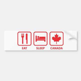 Eat Sleep Canada Bumper Sticker