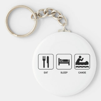 Eat Sleep Canoe Key Ring