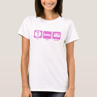 eat sleep caravan pink T-Shirt