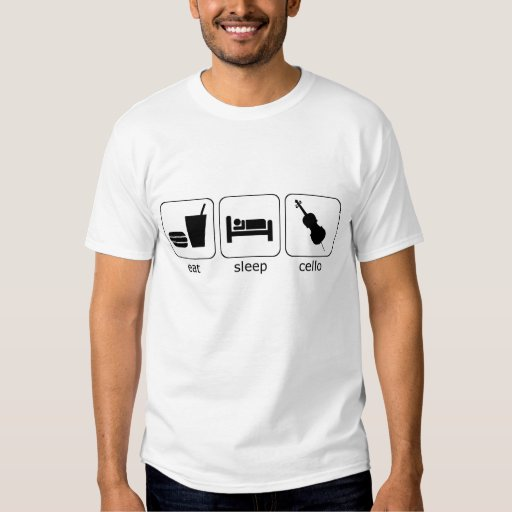 eat sleep cello tshirts