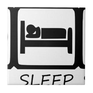EAT SLEEP CERAMIC TILE