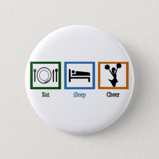 Eat Sleep Cheer 6 Cm Round Badge