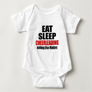 EAT SLEEP CHEERLEADING BABY BODYSUIT