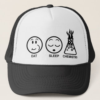 Eat Sleep Chemistry Trucker Hat