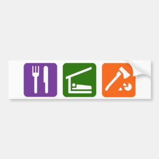 Eat Sleep Chopping Wood Bumper Sticker