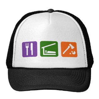 Eat Sleep Chopping Wood Hats