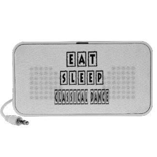 Eat Sleep Classical Dance Laptop Speakers