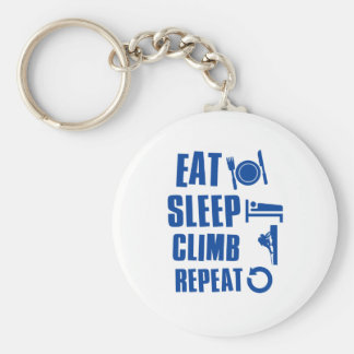 Eat sleep climb key ring