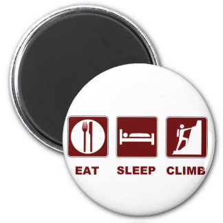 Eat Sleep Climb T-shirt and gift design 6 Cm Round Magnet