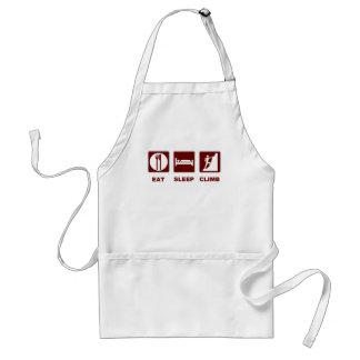 Eat Sleep Climb T-shirt and gift design Aprons
