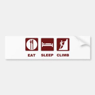 Eat Sleep Climb T-shirt and gift design Car Bumper Sticker