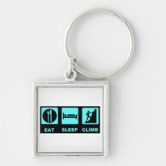 Eat Sleep Climb T-shirt and gift design Keychain