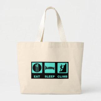 Eat Sleep Climb T-shirt and gift design Tote Bags
