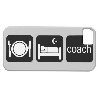 eat sleep coach iPhone 5 cover