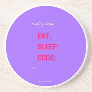 EAT SLEEP CODE DRINK COASTERS