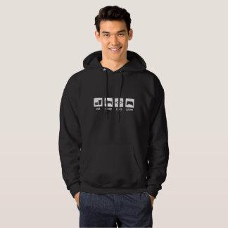 eat sleep code game hoodie