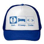 eat sleep code (html) cap