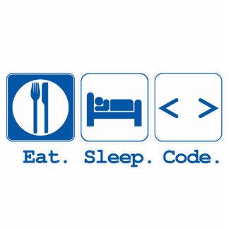 eat sleep code (html) photo sculpture decoration