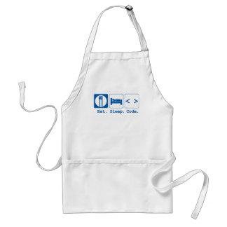 eat sleep code (html) standard apron