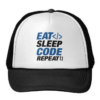 Eat Sleep Code Repeat Cap
