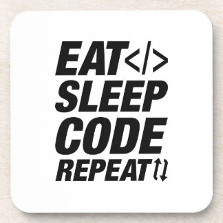 Eat Sleep Code Repeat Coaster