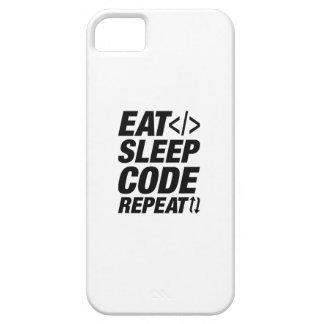 Eat Sleep Code Repeat iPhone 5 Case