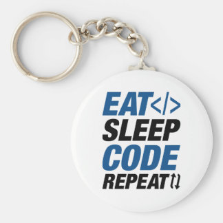 Eat Sleep Code Repeat Key Ring