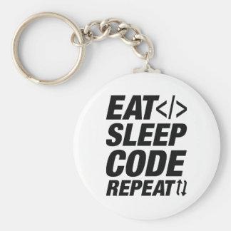 Eat Sleep Code Repeat Key Ring