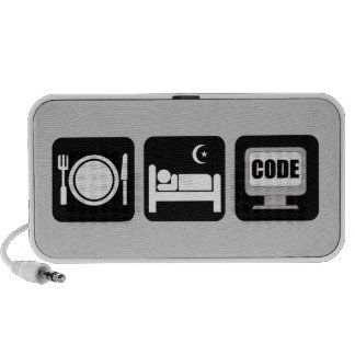 eat sleep code iPhone speaker
