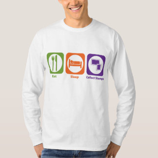 Eat Sleep Collect Stamps T-Shirt