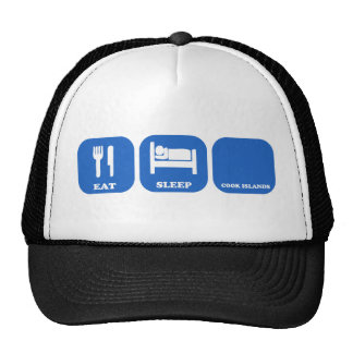 Eat Sleep Cook Islands Hats