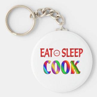 Eat Sleep Cook Key Ring