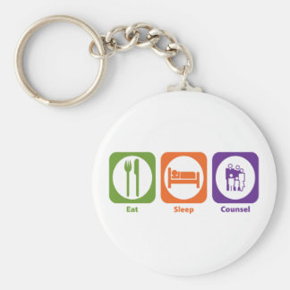 Eat Sleep Counsel Key Ring