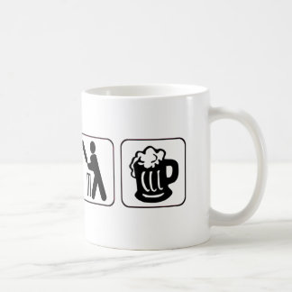 Eat, sleep cricket, beer. Funny design for cricket Coffee Mug