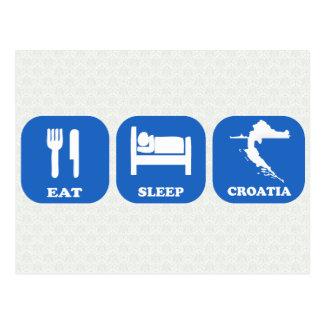 Eat Sleep Croatia Postcard