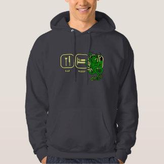 Eat - Sleep - Cthulhu Hooded Sweatshirt