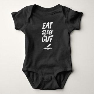 Eat sleep cut baby bodysuit
